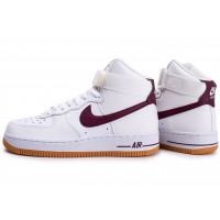 Air Force 1 High blanche et marron femme