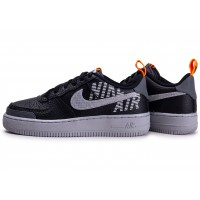 Air Force 1  Under Construction noire grise et orange junior