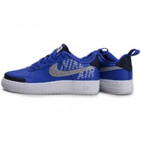 Air Force 1 Under Construction bleu argent Junior