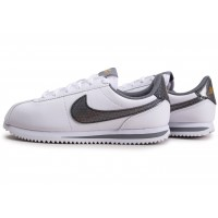 Cortez Basic blanc gris or junior