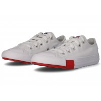 Logo Play Chuck Taylor All Star blanche et rouge Enfant
