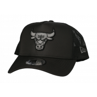 Casquette trucker tonal black Chicago Bulls ajustable