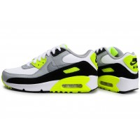 Air Max 90 Leather blanc gris Volt Junior