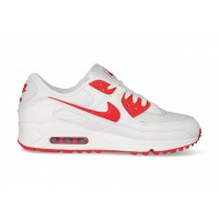 Nike Air Max 90 blanche et rouge OG - Chaussures Baskets homme ...