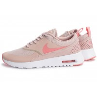 Nike Air Max Thea W rose et blanche - Chaussures Baskets ...