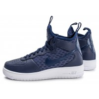 Nike Air Force 1 UltraForce Mid bleue Chaussures Baskets