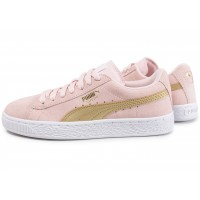 Suede Junior rose et or
