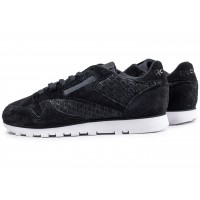 Classic Leather Woven EMB noire