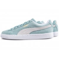 Puma Suede Classic bleu turquoise et blanche Chaussures