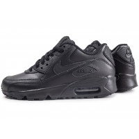 Air Max 90 Leather noir junior