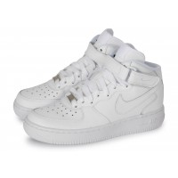 Air Force 1 J Mid triple blanc