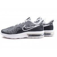 Air Max Sequent 4 noire et blanche junior