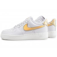 Air Force 1 '07 Metallic clash grise et or femme