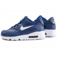 Air Max 90 Leather bleue enfant