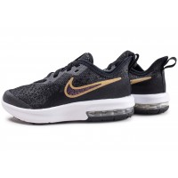 Air Max Sequent noir et or enfant