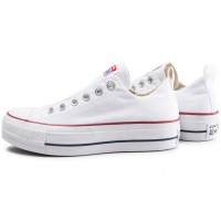 Chuck Taylor All Star low Platform blanche femme