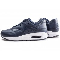 Air Max 1 bleu et noir junior