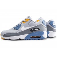 Air Max 90 Leather grise et bleue junior