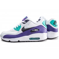 Air Max 90 Leather vert et violet junior