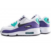 Air Max 90 Leather blanc et violet enfant