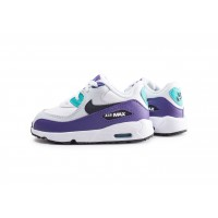 Air Max 90 Leather blanc et violet bébé