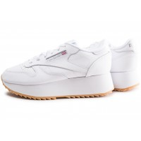 Classic Leather Double blanche femme