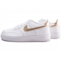 Air Force 1 EP blanche et bronze junior