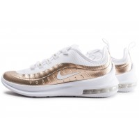 Air Max Axis blanche et or junior