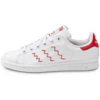 buy popular 0ad22 fccd8 Stan Smith ZigZag blanche et rouge