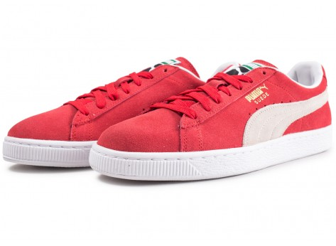Chaussures Puma Suede Classic Rouge vue intérieure