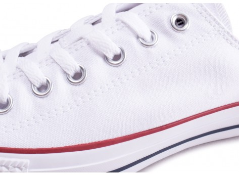 Chaussures Converse Chuck Taylor All Star low blanche vue dessus