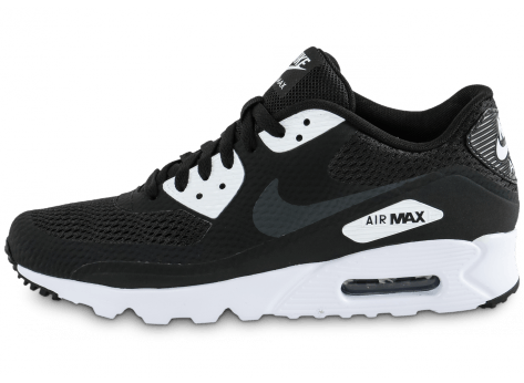low priced 28d66 1bf31 ... greece chaussures nike air max 90 ultra essential noire et blanche vue  avant f955d 09a01