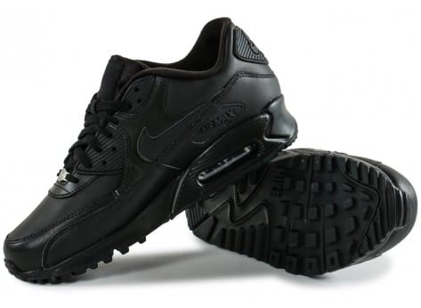 Chaussures Nike Air Max 90 Leather noire vue avant