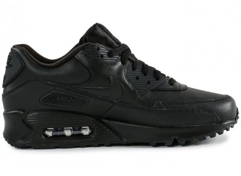 Chaussures Nike Air Max 90 Leather noire vue dessus