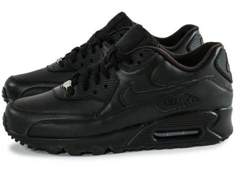 Chaussures Nike Air Max 90 Leather noire vue intérieure