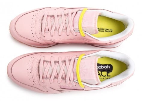 Chaussures Reebok Classic Leather Face Stockholm rose vue arrière