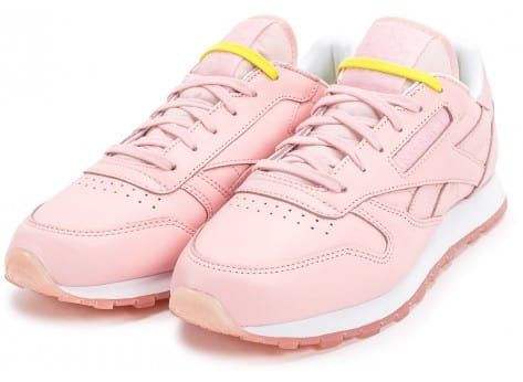 Chaussures Reebok Classic Leather Face Stockholm rose vue intérieure