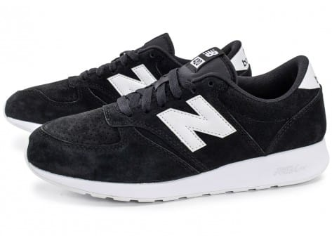 New Balance 420 Re-Engineered Suede noire - Chaussures Baskets ...