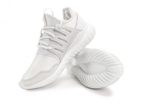 adidas tubular radial blanche chaussures baskets homme chausport. Black Bedroom Furniture Sets. Home Design Ideas