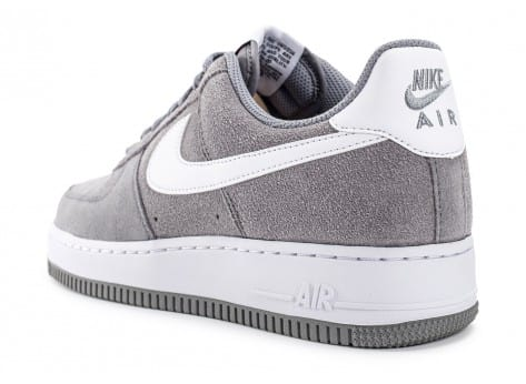 nike air force 1 suede grise chaussures baskets homme chausport. Black Bedroom Furniture Sets. Home Design Ideas