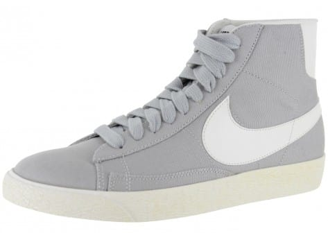 Nike Blazer Mid Toile Grise - Chaussures Baskets homme - Chausport