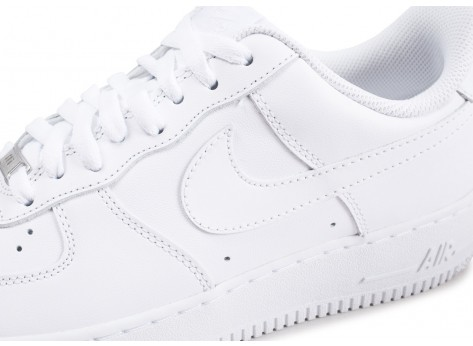 Chaussures Nike Air Force 1 Blanche vue dessus