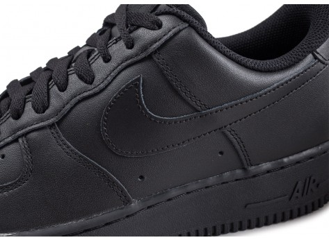 Chaussures Nike Air Force 1 Noire vue dessus