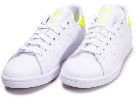Chaussures adidas Stan Smith blanc jaune vue intérieure