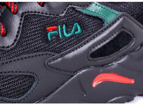 Chaussures Fila Ray Tracer noire rouge vert vue dessus