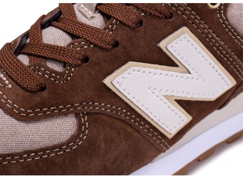 Chaussures New Balance ML574SNM marron vue dessus