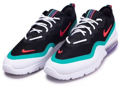 Chaussures Nike Air Max Sequent 4.5 rouge blanc vert vue intérieure
