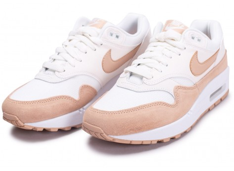 Chaussures Nike Air Max One Blanche et Beige vue intérieure