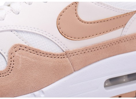 Chaussures Nike Air Max One Blanche et Beige vue dessus