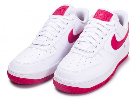 Chaussures Nike Air Force 1 Blanche et Rouge vue intérieure